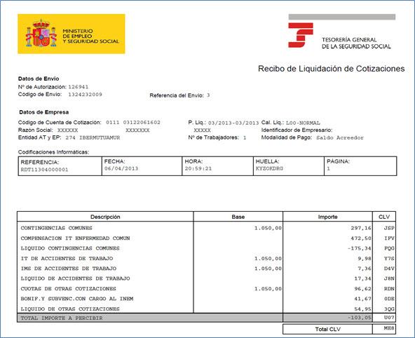 Seguridad social a cargo de la empresa luismasanchezmaestre for Nomina word